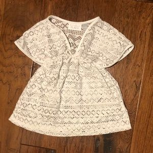 5/$25 White crocheted cover up